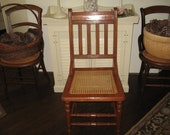Very Old Side Chair RECAINED by Member of COLLIGNON FAMILY