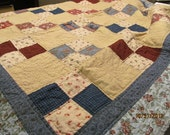 Hand quilted Lap Quilt