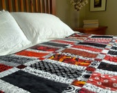Black and Red Block Quilt