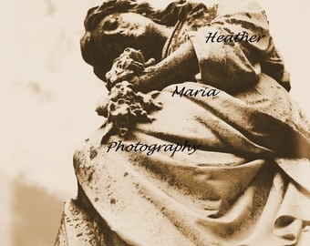 Time To Ponder, Historic Cemetery Statue, Fine Art Photography 8x10 photo