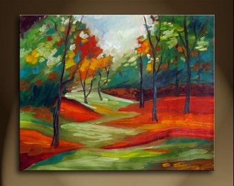 Large Oil Painting On Canvas Modern Original Art Impressionist landscape BURKE VA