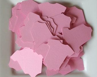 "100 Mini Baby Girl Onesies in Guava Sensation Pink 1.5"""
