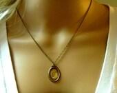 Victorian Initial Monogram Necklace, vintage, victorian style, wedding, bridesmaids gift
