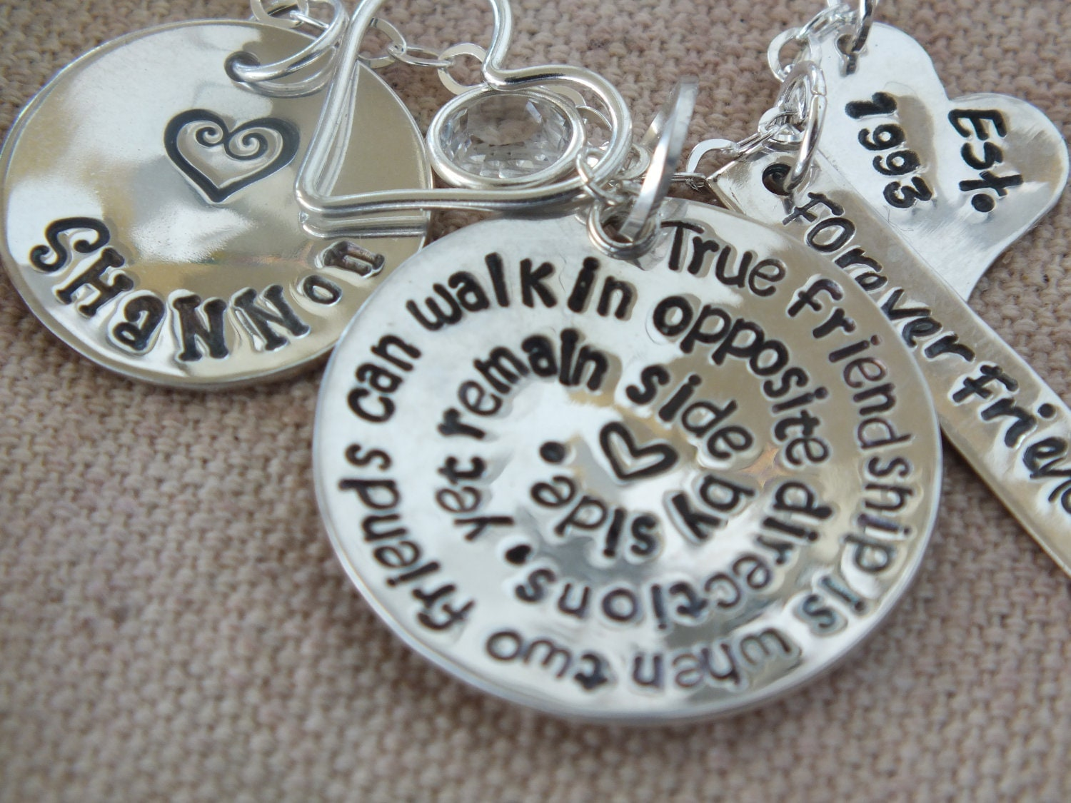 Personalized Hand Stamped New Mom Necklace Mommy By
