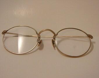Vintage Round Eye Glasses 12k Gold