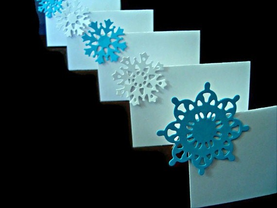20 Snowflake Place Cards Winter Wedding Cards Dinner Place