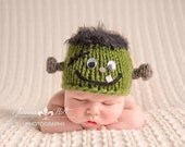 Newborn Frankenstein Hat/Photography Prop/Made to order/ Free Shipping