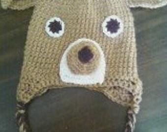 Little Buck Deer crochet hat