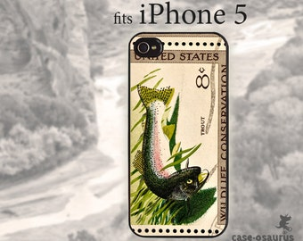 Trout Stamp iPhone Case, for iPhone 6, iPhone 5/5s or iPhone 4/4s, Samsung Galaxy S6, Galaxy S5, Galaxy S4, Galaxy S3