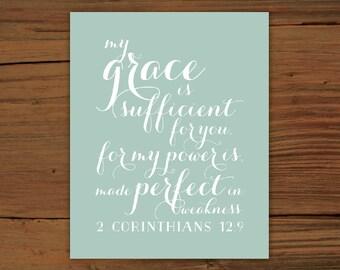 2 Corinthians 12:9 Print
