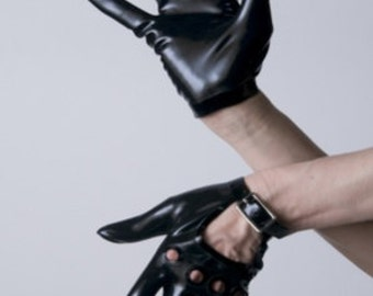 Latex Rubber Motorcycle Wrist Gloves by VEX - Moto Gloves-