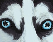 Title: Eyes of love Husky signed by artist print 13 x19  dog breed print