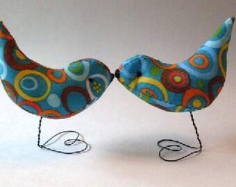 PrimiTive Folkart Circle Of Life  Cake Topper Love Birds Decorations Nursery Decor We Ship Internationally