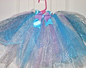 SALE Teal, purple, and zebra princess tutu, measured to fit a 12-24 month old girl.