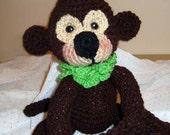 Hand-Crocheted Amigurumi Monkey