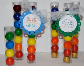 "Clear plastic tubes with caps 1"" x 4.5""  - Qty 50 - use for storage - party favors - shower favors - 1"" gumball tubes - quick and easy gifts"