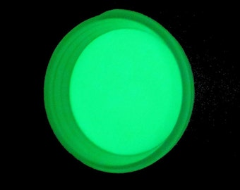 Craft Glow - Bright Green Glow in the Dark Pigment Powder 2oz