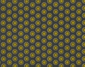 Ziggy Medalilion Black - Chicopee: Denyse Schmidt for Free Spirit Fabrics- 1 Yard Cut