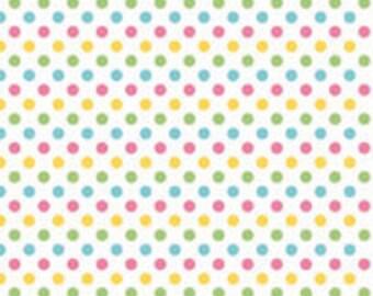 Small Dots Girl Riley Blake - 1 One Yard Cut.