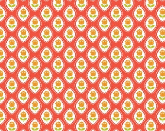 Cameo Coral: Gabbie Collection from Maude Asbury for Blend Fabrics. 1 Yard Cut