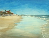 Landscape Painting CA Beach in acrylic original 18 x 24