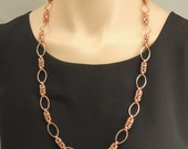Reserved for Sara Only - Copper chain maille station necklace