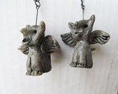 Reserved for Marion Dangles Earrings Spooky Gargoyles