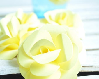 Yellow  Paper Flowers- Wedding Flowers