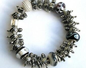 Pewter Irish Dancer Charm Bead