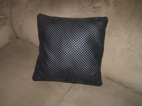 Items similar to 2 black faux leather throw pillow covers /pillow insert not included size 16 x ...