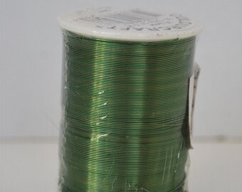 Green Beading Wire, 26 Gauge- 30 Yards