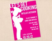 LET'S GET COOKING personalized printable birthday party invitation diy