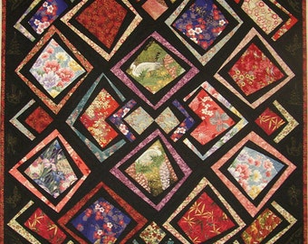 Asian Antics, Quilt Pattern, Willow Brook Quilts, DIY Quilting Sewing Great for Large Scale Fabrics
