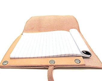 Refillable Leather Notebook / Custom Notepad Holder / Handcrafted in USA / Free Personalization