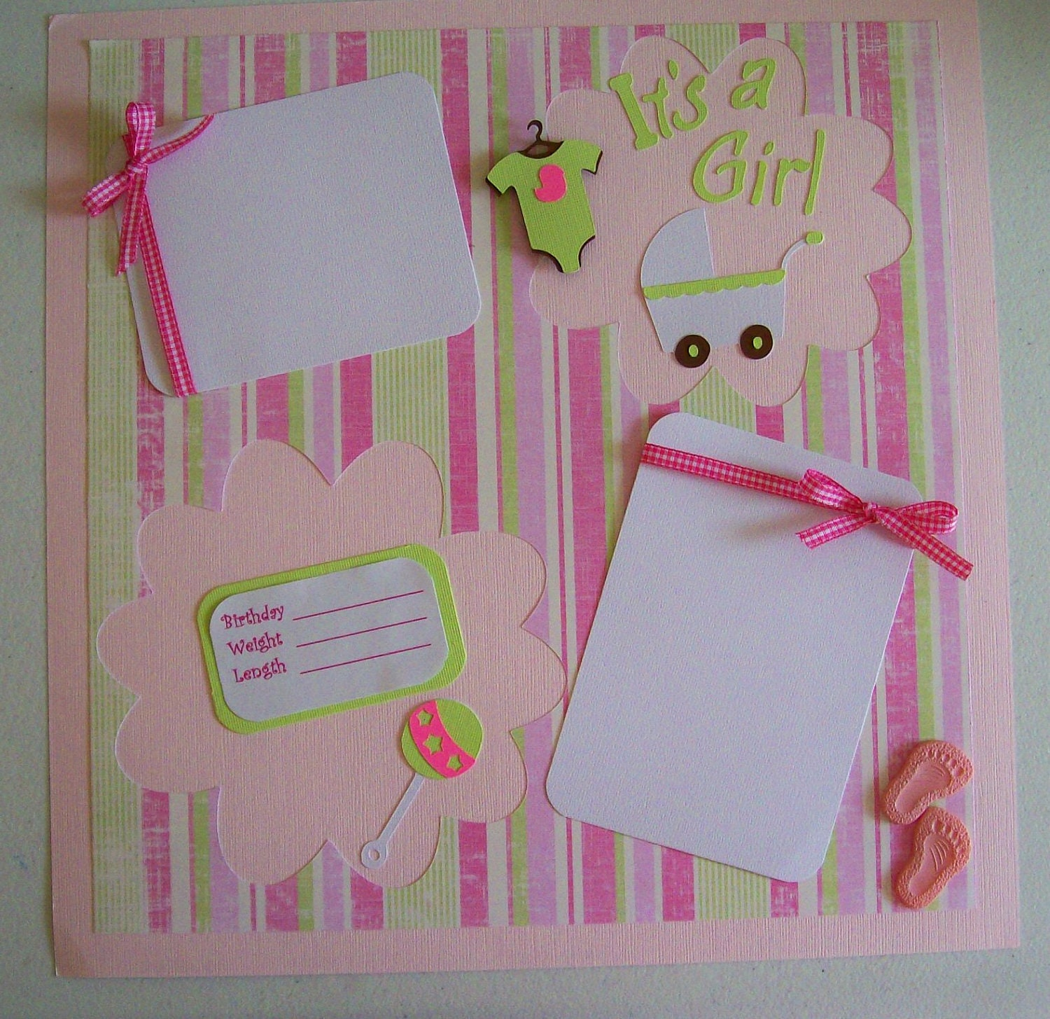 It S A Girl Single 12x12 Scrapbook Page Girls Scrapbook