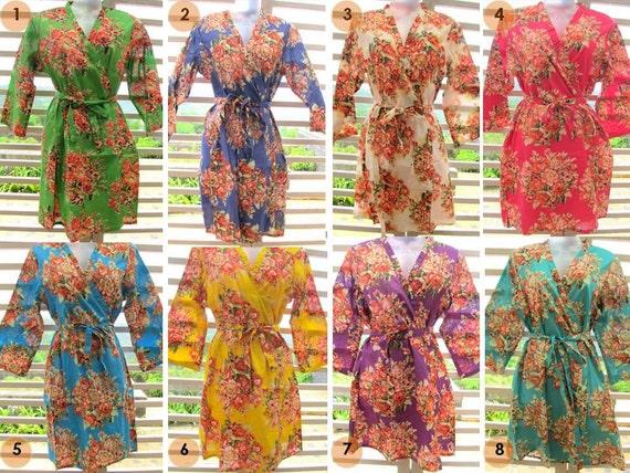 RESERVED for Alicia - Set of 8 kimono robes