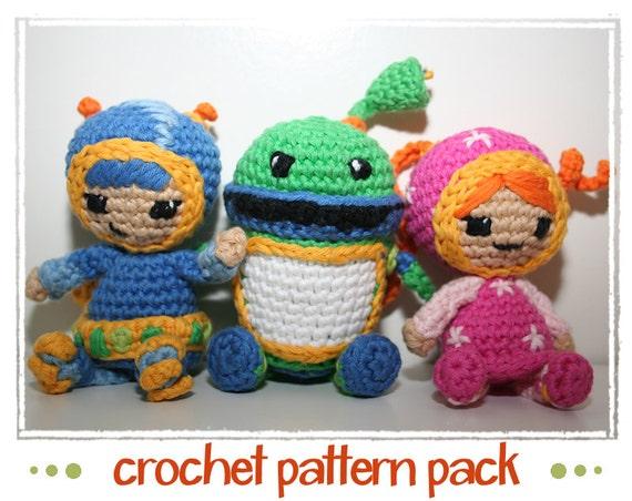 Free Crochet Pattern Umizoomi : Milli Geo & Bot Team Umizoomi Crochet Pattern PDF files