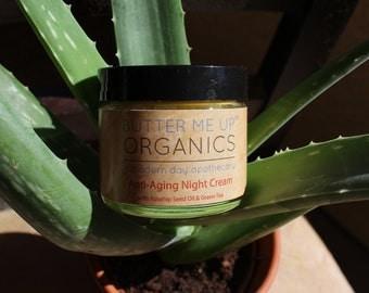 Anti Aging Night Cream Face Moisturizer Organic Green Tea