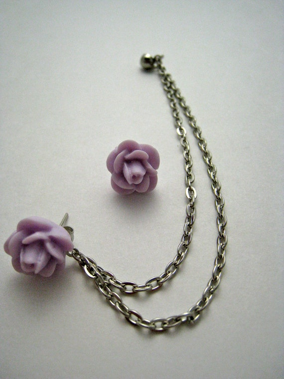 items similar to light purple flower silver cartilage