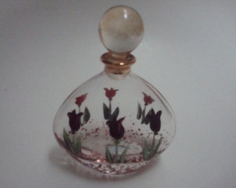 Vintage Hand Painted Royal Limited Crystal Perfume bottle