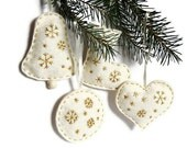 White felt christmas home decor embroidery ornament - myRainbowWorld