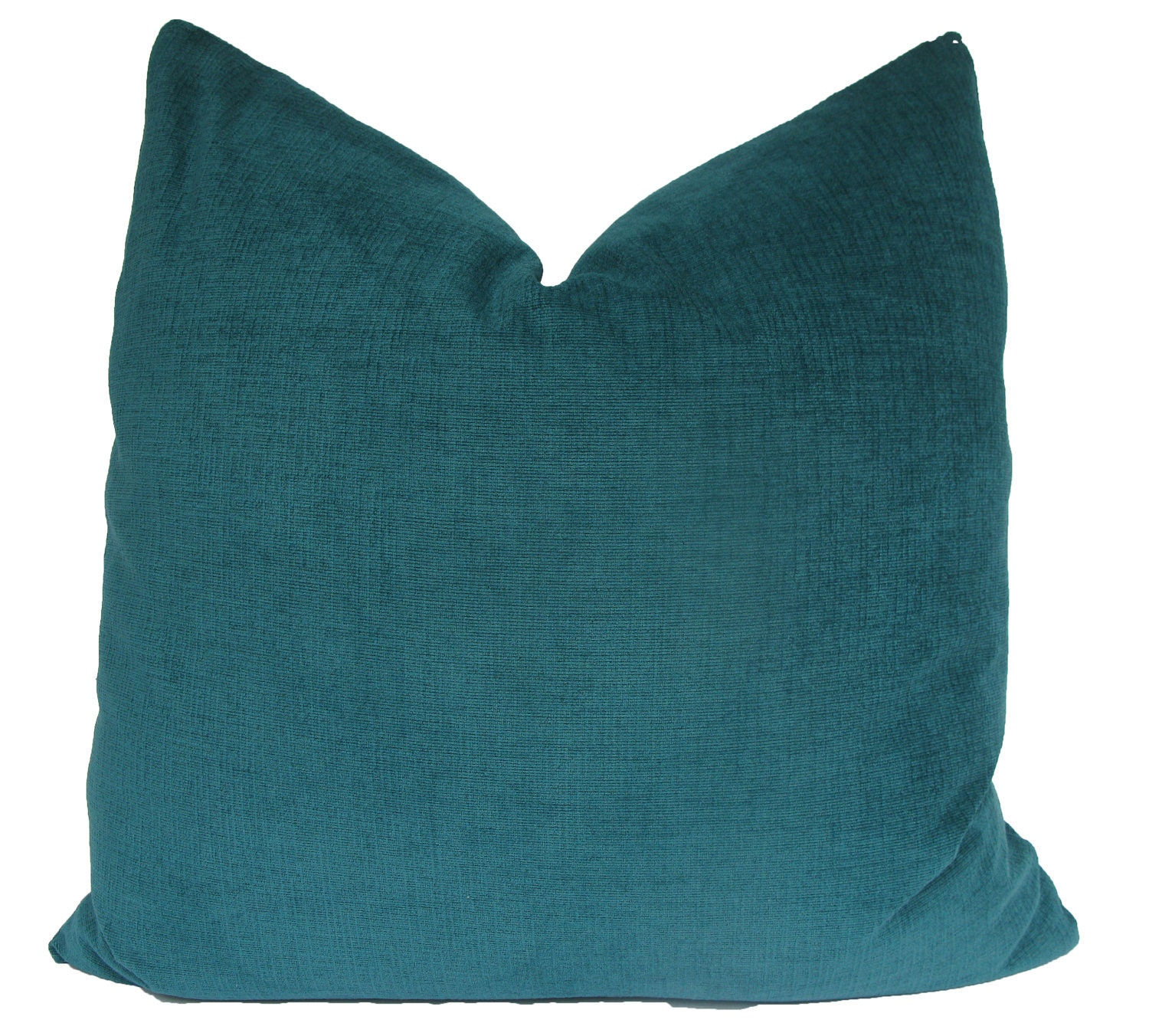 Throw Pillow Covers Teal : Decorative Turquoise Teal Plush Pillow Cover by MakingFabulous