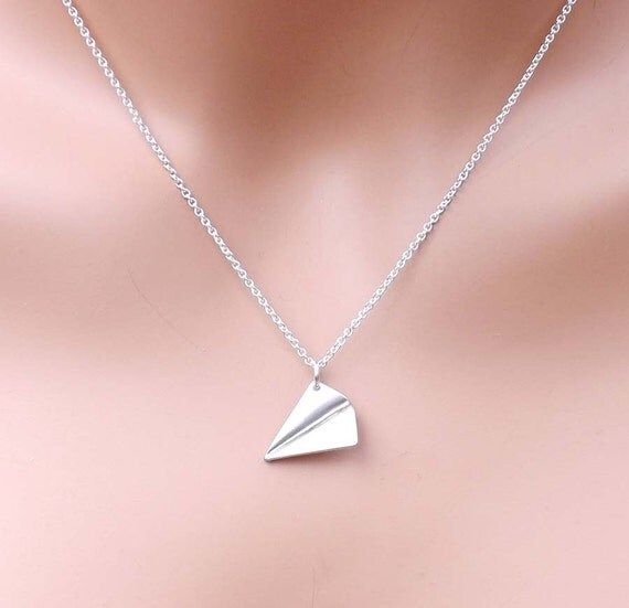 One Direction - paper airplane pendant necklace - Directioner - one direction necklace -Mother's Day gift