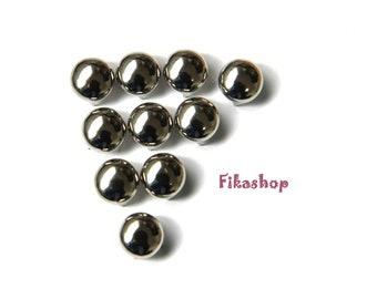 15mm 100pcs Silver round studs / HIGH Quality -  Fikashop