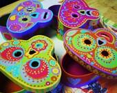 Sugar Skulls..Day of the Dead boxes...Christmas decorations...Wedding box...Mexican folk art