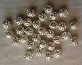 30 Silver Plated Beads 6mm