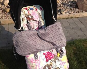 Winter Stroller Set- Stroller blanket, stroller liner, and shoulder strap pads