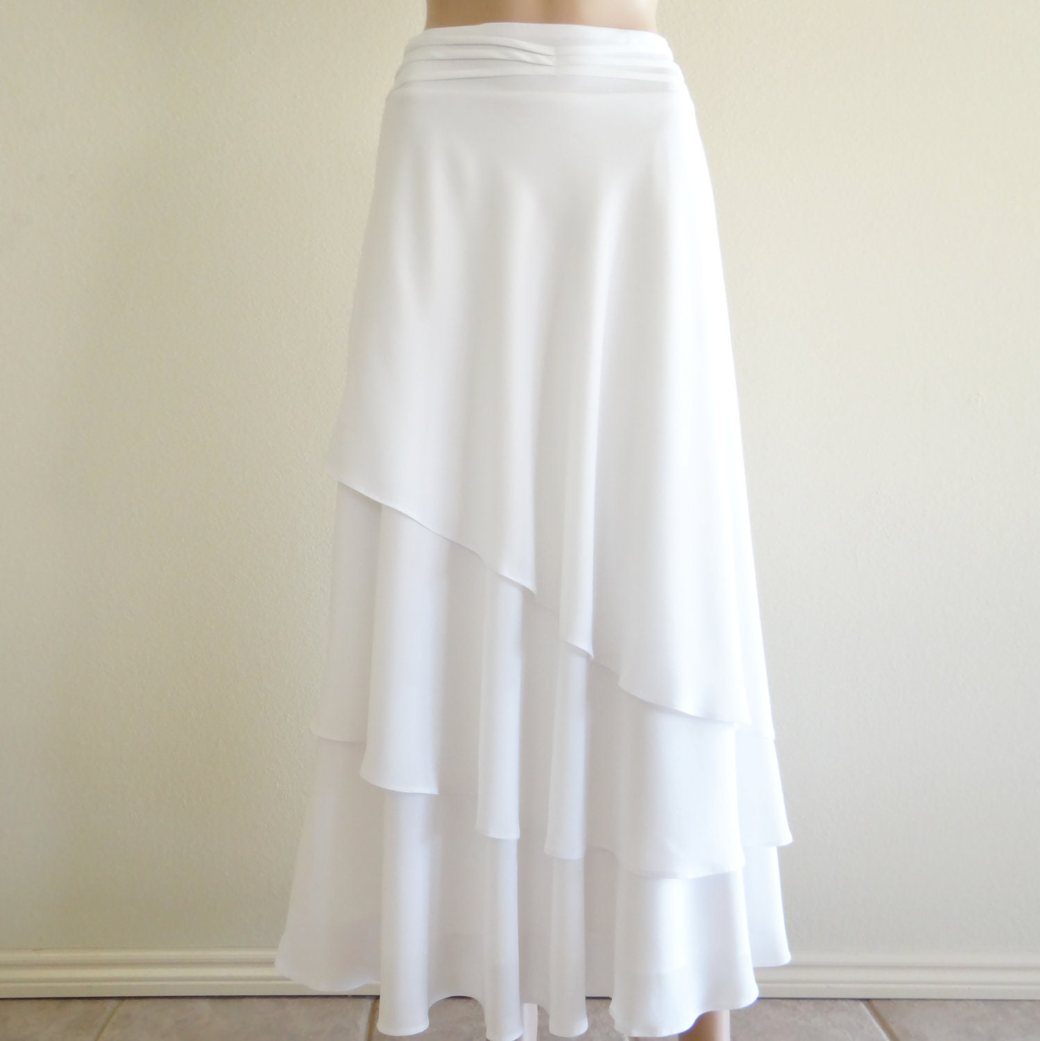White Long Skirt. White Maxi Skirt. Long Evening Skirt. Party
