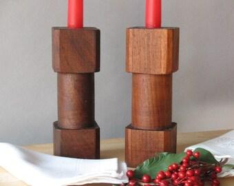 Candle holder - Candlestick - Wood Candlestick - Turned candlestick - Hardwood