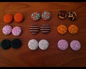 Small Cover Button Earrings